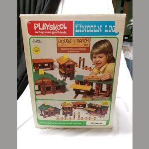 1977 playskool Lincoln logs double L ranch